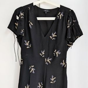 Madewell 100% Silk Poppy Dress Wild Botanic Size 8